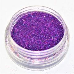 Дизайн для ногтей глиттер голография фиолетовый.