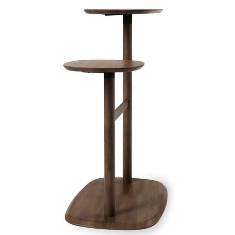 Столик приставной Swivo черный-орех