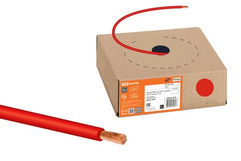 Провод ПуГВ 1х2,5 ГОСТ в коробке (100м), красный TDM