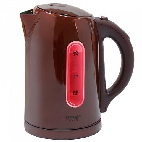 Чайник электрический 1.7л DELTA LUX DL-1007 коричневый