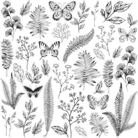 Ацетатный лист 30х30 Flora & Fauna, Kaisercraft