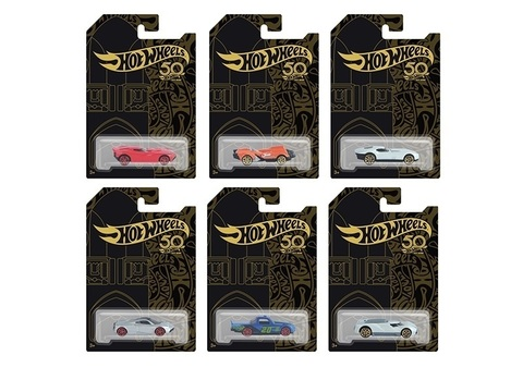 Машинки Hot Wheels series 50 years - 6 видов в ассортименте