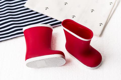 Взуття для ляльки. Чоботи гумові - червоні