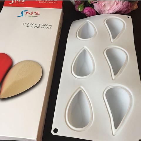 Силиконовая форма для выпечки Сердце из двух капель 6в1 (9х5см)