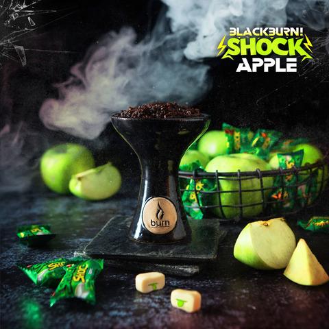 Табак Burn Black Apple Shock (Кислое Яблоко) 100 г