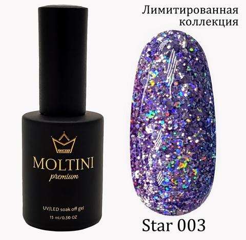 Гель-лак Moltini Premium STAR 003, 15 ml