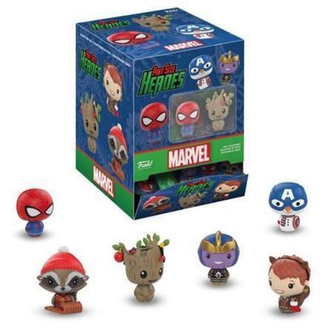 Фигурка Funko Pint Size Heroes: Marvel Holiday: 24PK PDQ 34447