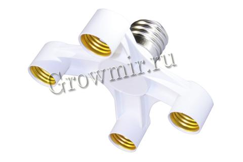 Адаптер на 4 лампы E40-E27X4