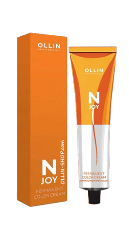 OLLIN N-JOY  7/72 – русый коричнево-фиолетовый, перманентная крем-краска для волос 100мл