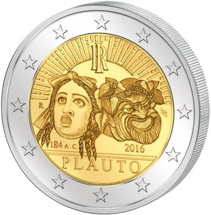 2 евро 2016 Италия - Плавт
