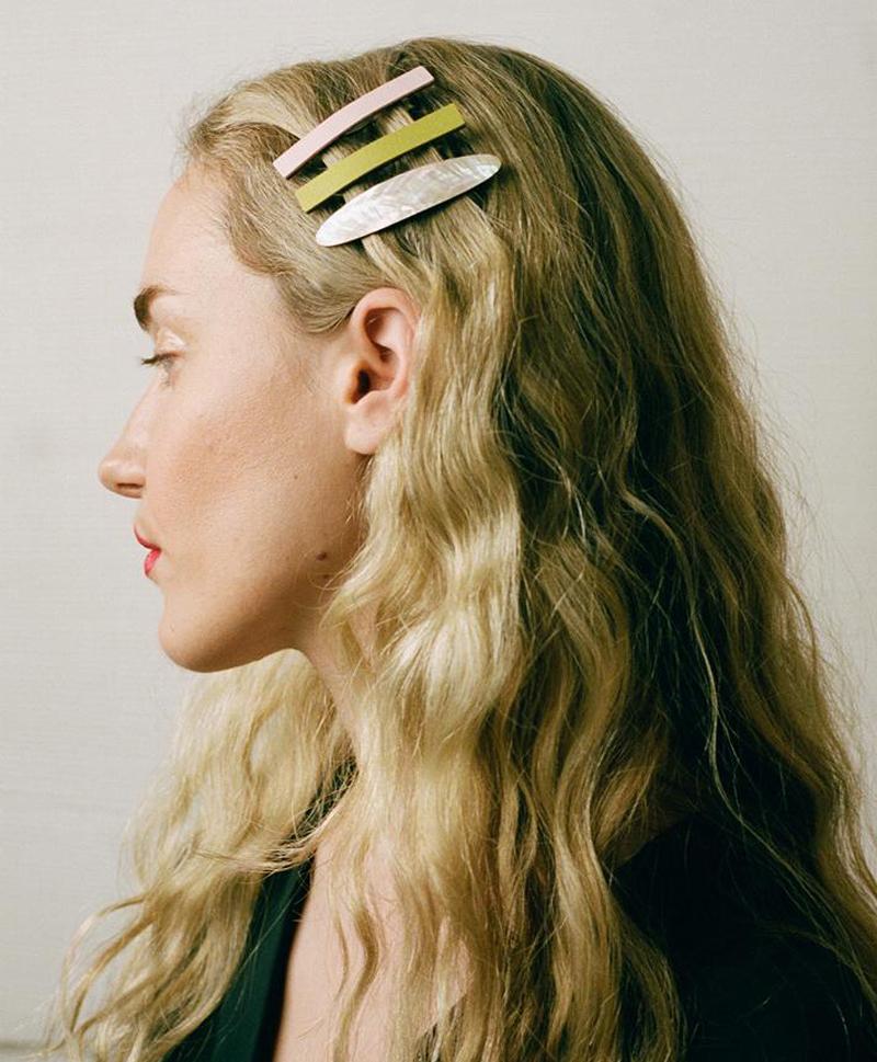Заколка Bar Hair Clip mini пудрового цвета