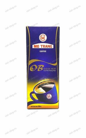 Вьетнамский молотый кофе Me Trang Ocean Blue (Голубой Океан), смесь 2-х сортов, 250 гр.