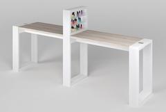 Двухместный маникюрный стол Matrix с подставкой для лаков