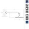 Встраиваемый смеситель для душа с душевым комплектом YPSILON PLUS K6418013 на 1 выход - фото №2