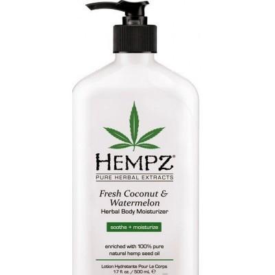 Hempz - Уход для тела: Молочко для тела увлажняющее Кокос и Арбуз (Fresh Coconut & Watermelon Herbal Moisturizer), 500мл
