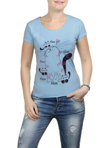 2352-2 футболка женская, голубая