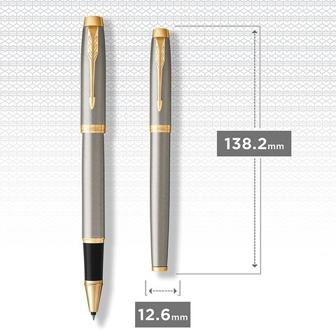 Ручка роллер Parker IM Metal Core Brushed Metal GT123