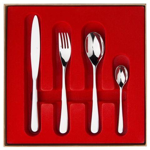 Набор столовых приборов  на 6 персон, 24 предмета, нержавеющая сталь , серебристый, артикул 210887, серия Aquatic