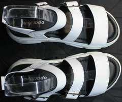 Открытые босоножки на массивной подошве женские Evromoda 3078-107 Sport White