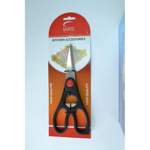 Ножницы кухонные Marvel нержавеющая сталь/пластик 210 мм черные
