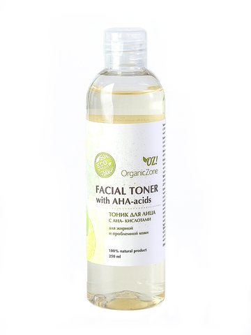 Тоник для лица с АНА-кислотами для жирной и проблемной кожи OrganicZone