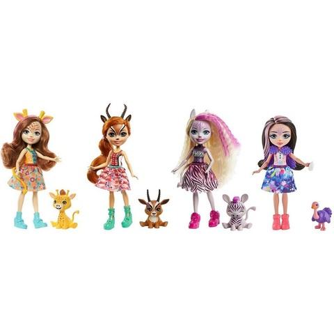 Набор из 4 кукол Энчантималс в Солнечной Саванне