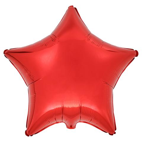 Воздушный шар Звезда 44см (Красная)