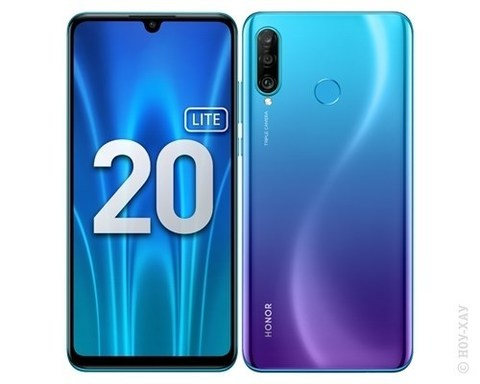 Смартфон Honor 20 Lite 4/128GB (RU) сине-фиолетовый (MAR-LX1H)