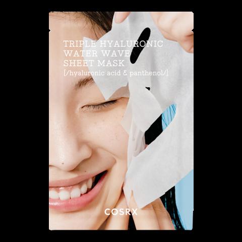 Увлажняющая тканевая маска с 3 видами гиалуроновой кислоты и пантенолом / Cosrx Triple Hyaluronic Water Wave Sheet Mask