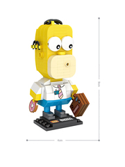Конструктор LOZ mini Гомер Симпсон 163 детали NO. 1467 Homer Simpson MiniBlock