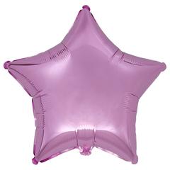Воздушный шар Звезда 44см (Розовая металлик)