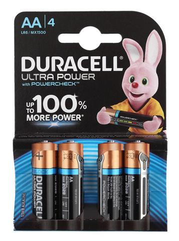 Батарея Duracell Ultra Power LR6-4BL MX1500 AA (4шт)