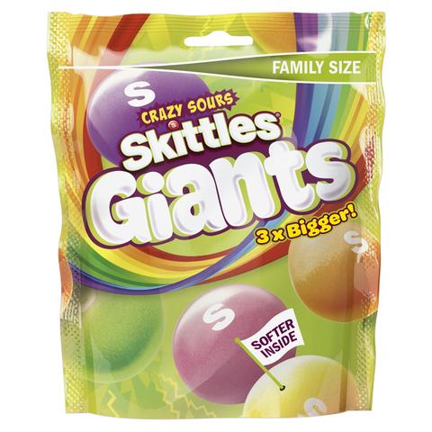 Кислые гигантские драже Skittles Giant Crazy Sours  170 гр