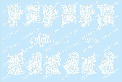 Слайдер наклейки Arti for you цвет белый №W19 купить за 100руб