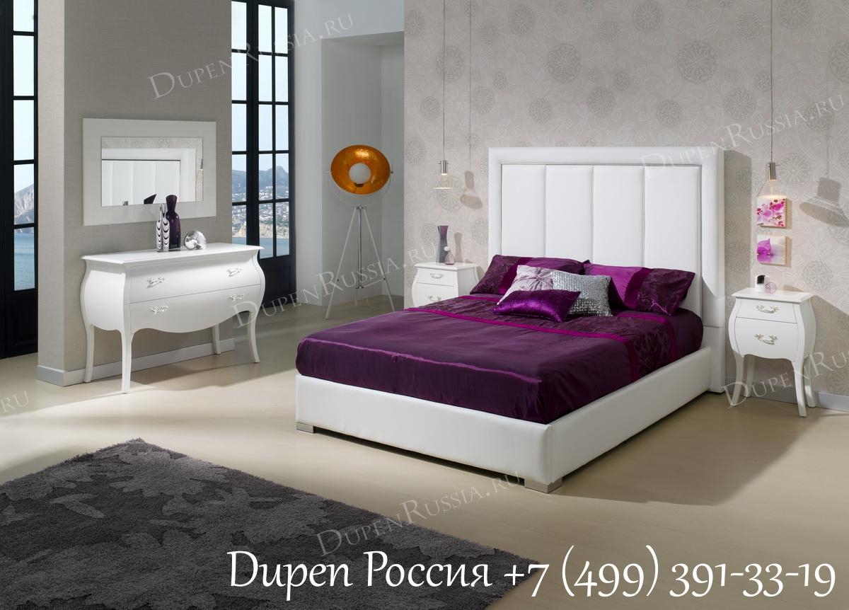 Торшер FL-12032WH White+Gold и Спальня Dupen 871 MONICA