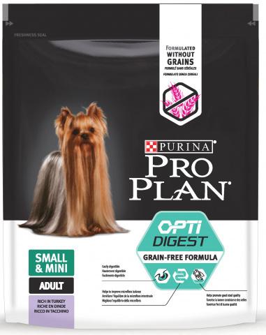 7 кг. Сухой корм Purina Pro Plan Optidigest Grain Free Formula для взрослых собак мелких и карликовых пород с чувствительным пищеварением, с высоким содержанием индейки