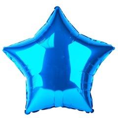 Шар звезда синий