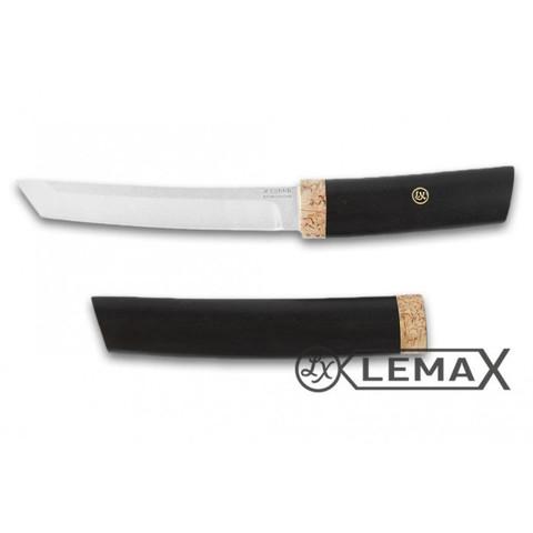 Нож Танто, Х12МФ, черный граб, карельская берёза