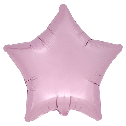 Воздушный шар Звезда 44см (Розовая пастель)