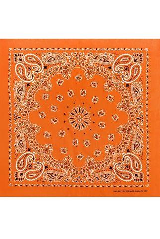 Бандана оранжевая фото