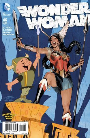 Wonder Woman #46 (Looney Tunes Variant Cover)