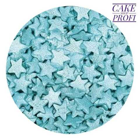 Посыпка Звезды голубые перламутровые, 25г