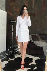 Ліона. Неперевершена сукня-піджак. Принт