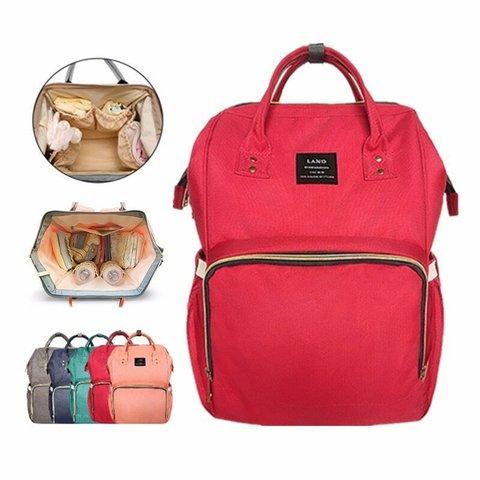 Сумка-рюкзак для молодых родителей Baby Mo Mummy bag (red)