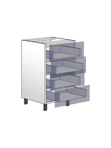 Напольный шкаф c 4 ящиками, 720Х450 мм / PushToOpen