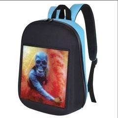 Led-рюкзак синий