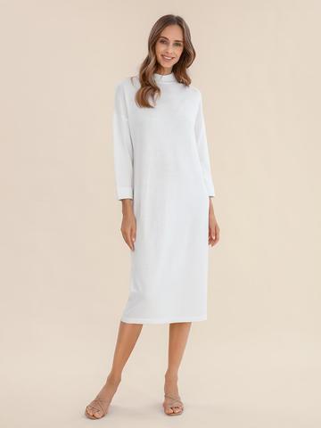 Женское платье молочного цвета из 100% шерсти - фото 2