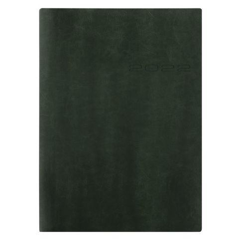 Ежедневник Letts Lecassa A5 (412 160050) кремовые стр гибкая обложка темно-зеленый