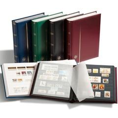 Кляссер для марок COMFORT A4, 64 ЧЕРНЫХ страницы, без шубера, зеленыйКопировать товар