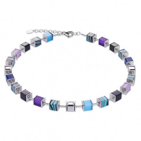 Колье Coeur de Lion 4747/10-0708 цвет голубой, фиолетовый, черный, серый, полосатый